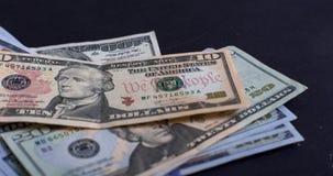 Amerikanische Dollar von Schatz und von Zentralbank Vereinigter Staaten mit Porträts von USA-Präsidenten Stockfotografie