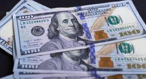 Amerikanische Dollar von Schatz und von Zentralbank Vereinigter Staaten mit Porträts von USA-Präsidenten Stockfotos