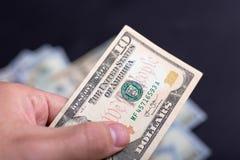Amerikanische Dollar von Schatz und von Zentralbank Vereinigter Staaten mit Porträts von USA-Präsidenten Lizenzfreies Stockbild