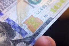 Amerikanische Dollar von Schatz und von Zentralbank Vereinigter Staaten mit Porträts von USA-Präsidenten Lizenzfreies Stockfoto