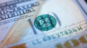 Amerikanische Dollar von Schatz und von Zentralbank Vereinigter Staaten mit Porträts von USA-Präsidenten Stockfoto