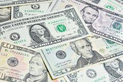 Amerikanische Dollarscheine, Gebrauch für Hintergrund Lizenzfreies Stockfoto
