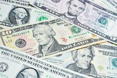 Amerikanische Dollarscheine, Gebrauch für Hintergrund Stockfotos