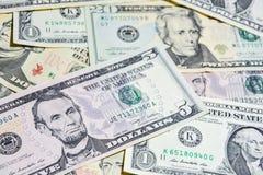 Amerikanische Dollarscheine, Gebrauch für Hintergrund Stockbilder