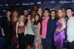 Amerikanische Finalisten der Idol-Jahreszeit-11 der Oberseiten-13 an der amerikanischen Finalist-Party der Idol-Jahreszeit-11, die Lizenzfreie Stockfotografie