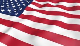 Amerikanische Flagge lizenzfreie abbildung