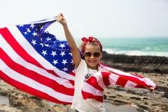Amerikanische Flagge Lizenzfreies Stockfoto