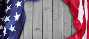 Amerikanische Flagge auf Brettern Lizenzfreie Stockfotografie