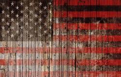 Amerikanische Flagge auf Holz Lizenzfreie Stockfotografie