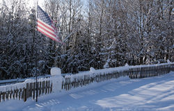 Amerikanische Flagge auf Pol Lizenzfreies Stockbild