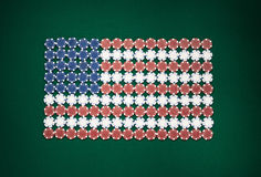 Amerikanische Flagge bestanden aus Chips Stockfotos