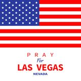 Amerikanische Flagge Beten Sie für Las Vegas Nevada Tribut zu den Opfern des Terrorismusangriffs-Massenschießens in LV am 1. Okto stock abbildung