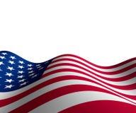 Amerikanische Flagge in der horizontalen Perspektive Lizenzfreie Stockfotos