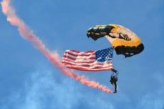 Amerikanische Flagge in einer Luft Lizenzfreies Stockfoto