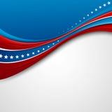 Amerikanische Flagge für Unabhängigkeitstag Vektor lizenzfreie abbildung