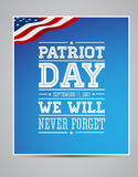 Amerikanische Flagge fasst Patriottag 11. September 2001 ab Lizenzfreie Stockfotografie