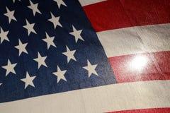 Amerikanische Flagge hintergrundbeleuchtet Stockbild