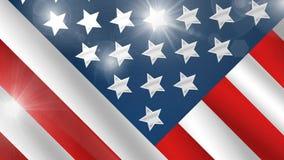 Amerikanische Flagge, Ikone, Zeichen, beste Illustration 3D
