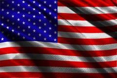 Amerikanische Flagge, Illustrationssymbol USA-Staatsflagge 3D Lizenzfreie Stockbilder