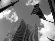 Amerikanische Flagge im Himmel Lizenzfreie Stockbilder