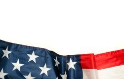 Amerikanische Flagge mit dem Kopienraum lokalisiert Stockbild