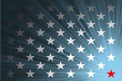 Amerikanische Flagge mit den Strahlen Lizenzfreie Stockfotos