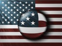 Amerikanische Flagge mit den Strahlen Stockfoto