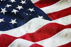 Amerikanische Flagge mit einer Segeltuch- und Lackbeschaffenheit Lizenzfreies Stockfoto