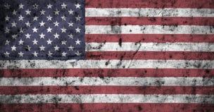 Amerikanische Flagge mit hohem Detail des alten schmutzigen zerknitterten Papiers Abbildung 3D Lizenzfreies Stockfoto
