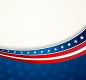 Amerikanische Flagge, patriotischer Hintergrund des Vektors Lizenzfreies Stockbild