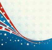 Amerikanische Flagge, patriotischer Hintergrund des Vektors lizenzfreie abbildung