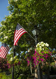 Amerikanische Flagge an Rathaus in der alten Stadt Alexandria Virginia stockbild
