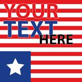 Amerikanische Flagge Streifen und Sterne Rot und Blau Der Hintergrund für die Abdeckung, Fahne, Flieger Stockfotografie