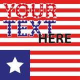 Amerikanische Flagge Streifen und Sterne Rot und Blau Der Hintergrund für die Abdeckung, Fahne, Flieger Stockfoto