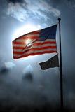 Amerikanische Flagge und POW-MIA Stockbilder