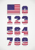 Amerikanische Flagge und Zahlen lizenzfreies stockbild