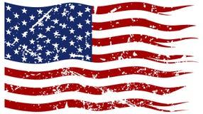Amerikanische Flagge zerrissen und Grunged lizenzfreies stockfoto