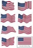 Amerikanische Flaggen Stockfotos