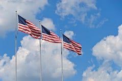 Amerikanische Flaggen Lizenzfreies Stockbild