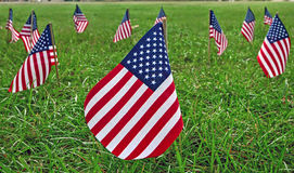 Amerikanische Flaggen Stockbild