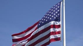 Amerikanische Flaggen, Vereinigte Staaten, 4. von Juli stock video footage