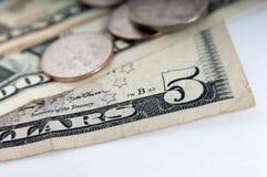 Amerikanische GeldDollarscheinnahaufnahme Stockfotos