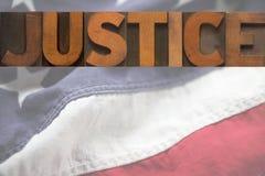 Amerikanische Gerechtigkeit Stockbild