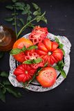 Amerikanische gerippte Tomaten Stockfotografie