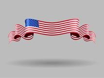 Amerikanische gewellte Flagge Auch im corel abgehobenen Betrag Stockfotografie