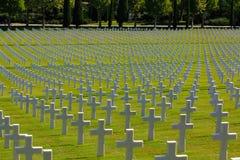 Amerikanische Gräber WWII, Italien Stockfotografie