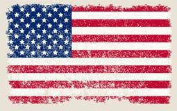 Amerikanische grunge Markierungsfahne lizenzfreie abbildung