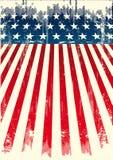 Amerikanische grunge Markierungsfahne Stockfotos