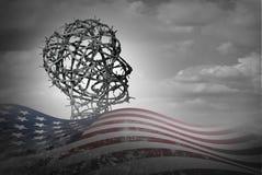 Amerikanische illegale Einwanderung lizenzfreie abbildung