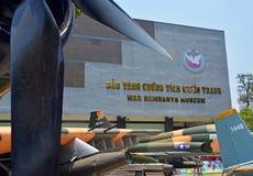 Amerikanische Kampfflugzeuge außerhalb des Kriegs-Rest-Museums, Saigon Stockfoto